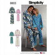 8803 Simplicity Pattern: Girls' and Misses' Loungewear